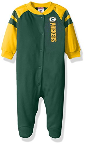 NFL Green Bay Packers Boys Sleep 'N Play Dress, 3-6 Months, - Shops Bay Green Gift