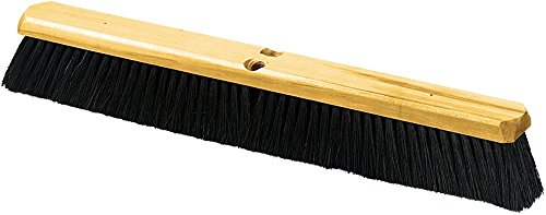 Carlisle 4513600 Flo-Pac Fine/Medium Floor Sweep with Wire Center, Tampico Bristles, 24'' Block Size, Black (Case of 12) by Carlisle