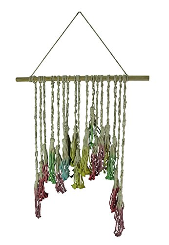 Wall Hangings Rainbow Dip Dyed Hand Crafted Macrame Pom Pom