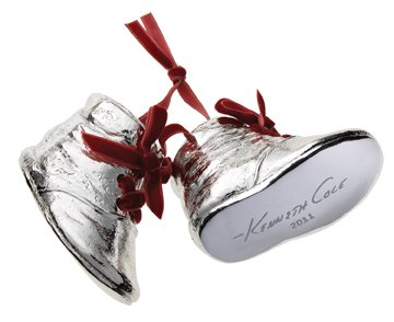 Amazon.com : Kenneth Cole Special Edition Silver Resin Boots/Shoes ...