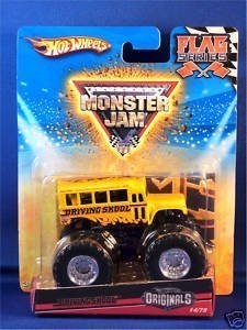 Hot Wheels Originals 2010 1:64 Scale Monster Jam DRIVING SKOOL Bus Truck 14/75 (Skool Bus)
