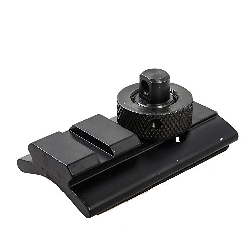 Airsson Airsoft Tactical Swivel Picatinny Slot Adaptor Kit Military Steel Weaver Rail Sling Stud Mount For Bipod Aluminum (Aluminum Stud)