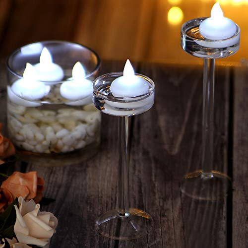 IMAGE Flickering Flameless Floating LED Candles 12PCS Smokeless Waterproof Floating LED Tealights Candles Wedding Party Spa Home Indoor Outdoor Decor-Cool White by IMAGE (Image #6)