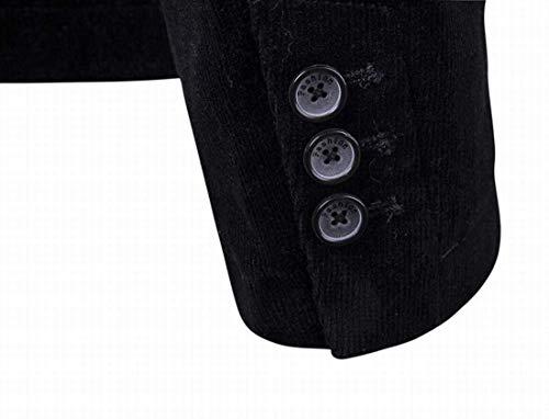 Blazer Vintage Slim Fit 2 Chaquetas Casual Fashion Elegante Negocios Hombres Chaqueta Button De Schwarz Larga Manga Elegant Otoño Los Leisure rrqRxvwCd
