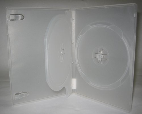DOUBLE DVD CASE W/CENTER (FLIP) TRAY, NO LOGO, CLEAR, PSD44, 50 PCS
