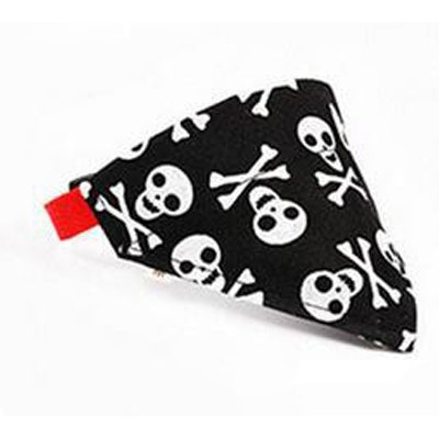 The Dream Embroidery Personalized Skull and Crossbones Quality Dog Bandanna | Thick Collars | Premium Quality | ()