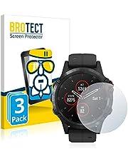 BROTECT Glas Screenprotector compatibel met Garmin fenix 5 Plus (47 mm) (3 Stuks) - Beschermglas met 9H hardheid