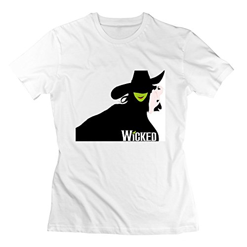 JaHa Women's Witchy Secrets Wicked T-shirt White S (Shrek Costume Ideas)