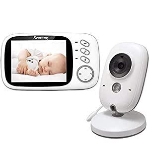 Tenboo Baby Monitor with Camera Video Baby Monitor Wireless 3.2″ LCD Digital Screen for Signal Transmission Two-Way Talk Support Night Vision Voice Activation Temperature Monitoring Lullabies