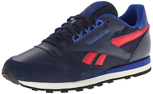 Sneaker Lace Up Men's Red Dark RE Leather CL Royal Excellent Navy Collegiate Reebok Fashion qwUXI0I