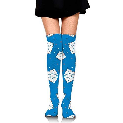 c384a9ba3 Thigh high socks Air Mail Blue Training Socks Crew Athletic Socks Long  Sport Soccer Socks Soft