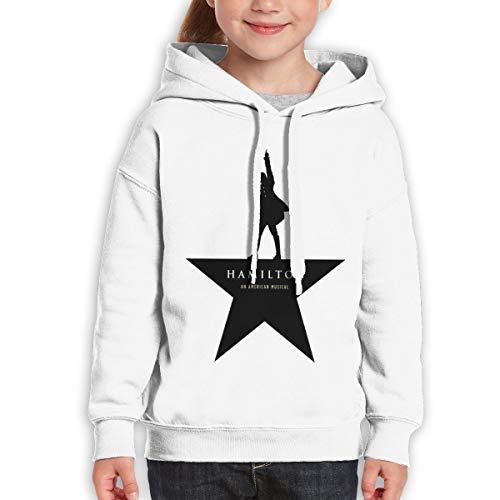 Star Hamilton (Teen Girls Boys Youth Hoody Music of Alexander Hamilton Star White L)