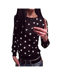 Changeshopping Women Long Sleeve Star Print Sweater Pullover Sweatshirt Jumper Tops