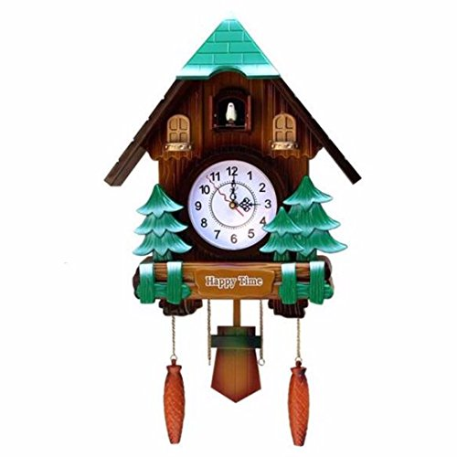 Amazon.com: Imoerjia European Style Wall Clock Creative Wall Clock Music to Countryside, Whole Point Living Room Childrens Room Cuckoo Clock Clocks, ...