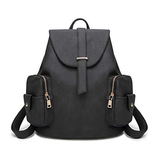 colgada BISSER hombro Negro Mochila de 2018 bolsa Girl retro de Mochila de viaje mujer un bolsa hombro mujer mujer colgada hombro HdaqwR