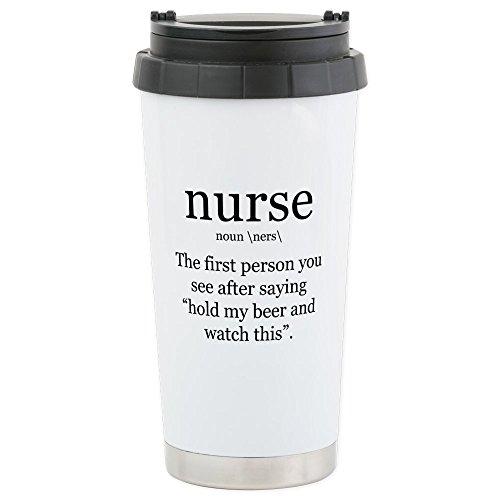 Nurse Travel Mug (CafePress - nurse definition Travel Mug - Stainless Steel Travel Mug, Insulated 16 oz. Coffee Tumbler)