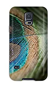 New Design Shatterproof YQCTrmJ14826YSnBR Case For Galaxy S5 (nice Peacock Feather )