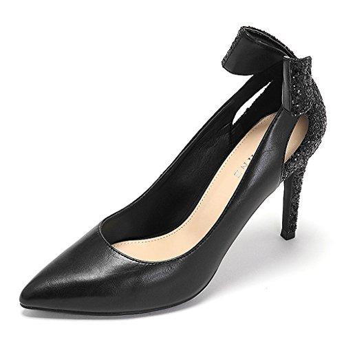 heeled elegante Schuhe dünne Abschnitt Trend Damen Bowknot Schuhe süße high FH1qvqxw5
