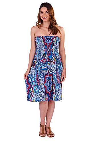 terned 3 Way Dress Paisley - Blue - Large ()