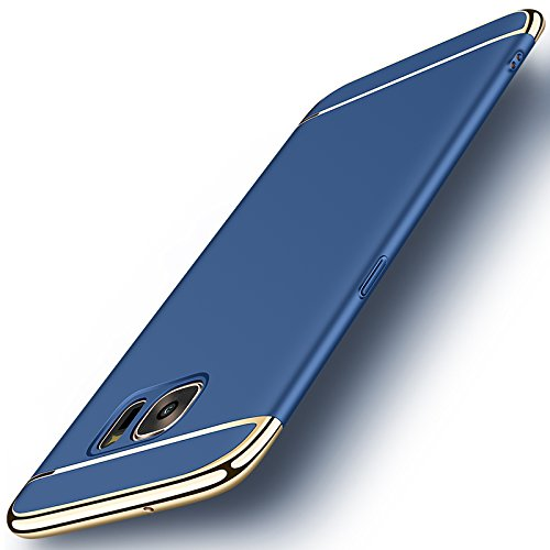 Galaxy S7 Edge Case, NAISU Galaxy S7 Edge Back Cover, Ultra Slim & Rugged Fit Shock Drop Proof Impact Resist Protective Case, 3 in 1 Hard Case for Samsung Galaxy S7 Edge - Blue …