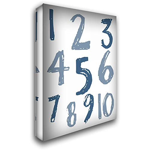 Whats Your Number 19x24 Gallery Wrapped Stretched Canvas Art by Lewis, Sheldon