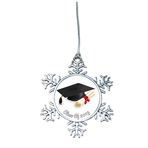 Class of 2019 Snowflake Silver Christmas Ornament Gift Graduation Gift Graduate ()