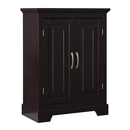 Double Door Floor Cabinet (Elegant Home Fashions Alfa Double Door Floor Cabinet)