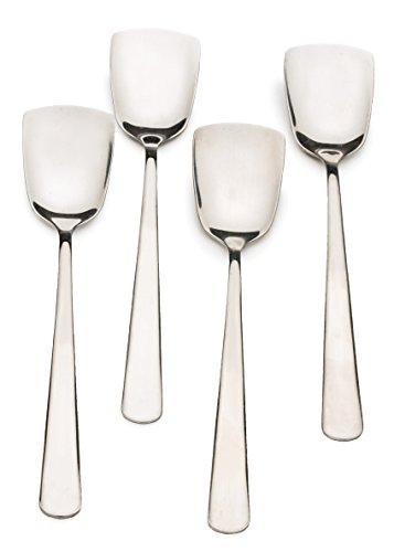 Ice Cream Spoon Set - RSVP Endurance Stainless Steel Ice Cream Spoons, Set of 4