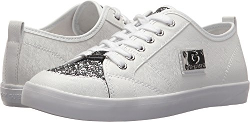 G by GUESS Women's Mallory7 White/Pewter Glitter 6 M US (Glitter Pewter)