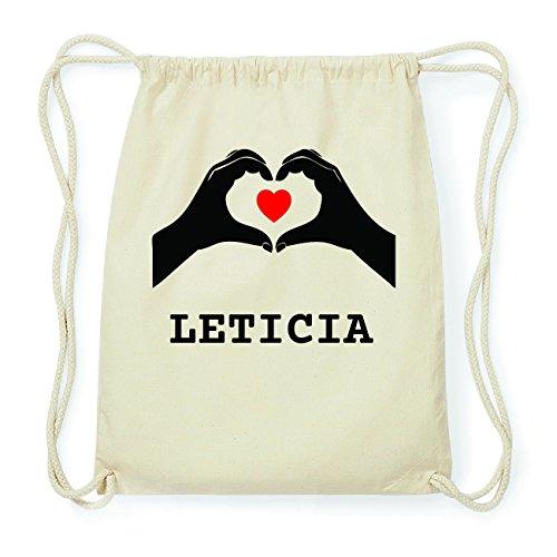 JOllify LETICIA Hipster Turnbeutel Tasche Rucksack aus Baumwolle - Farbe: natur Design: Hände Herz
