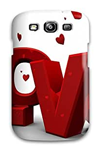 New Premium DQnnXuS8629cOqGs Case Cover For Galaxy S3/ Red Love Protective Case Cover