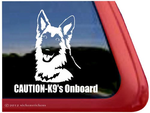 Caution Onboard German Shepherd Sticker