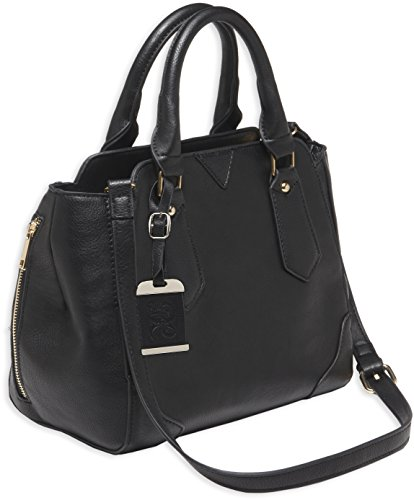 Bulldog Cases Satchel Style Purse with Holster, Black with Black Trim, Medium