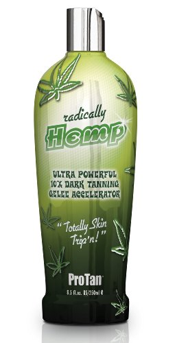 Pro Tan Radically Hemp Ultra Powerful 10X Dark Tanning Gelee Accelerator 8.5 oz