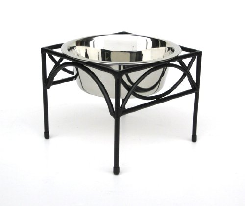 regal single bowl raised feeder - 12 tall