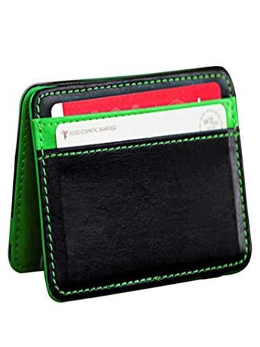 Bifold Wallet Litetao Stylish PU Neutral Magic Purse ID Credit Card Holder Gift (Green) ()