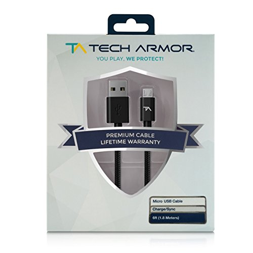 Tech Armor Hi Speed Usb Micro Usb Cable   6Ft   Usb A To Micro Usb Cable   Sync And Charge Phone And More