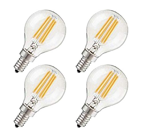 CTKcom G45 4W Candelabra LED Bulbs Dimmable(4 Pack)- E14 Base Vintage Edison Incandescent Bulb 40W Equivalent 2700K Warm White Lamp for Home,Pendant Lights,Sconces,Antique Light Fixtures 110V~130V AC ()