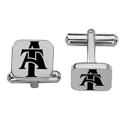 - College Jewelry North Carolina A&T Aggies Stainless Steel Square Cufflinks