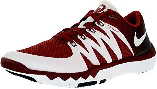 Nike Mens Gratis Tränare 5.0 V6 Amp Laget Crimson / Vit Ankelhöga Tennis Sko - 8,5