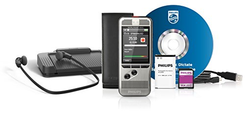 Philips Pocket Memo DPM6700 Voice Recorder - 4 GB - 27 hrs PCM Recording/700 hrs SP - Gray