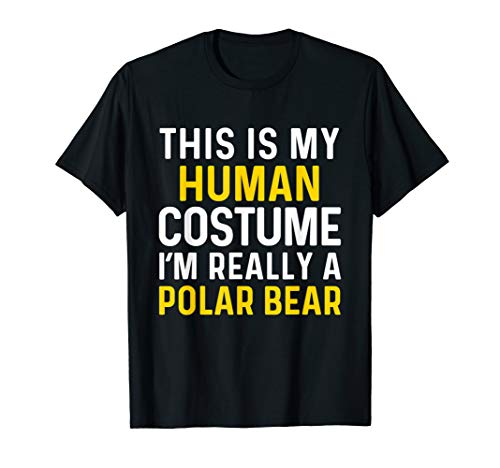 (I'm Really a Polar Bear Halloween T Shirt Funny Costume)