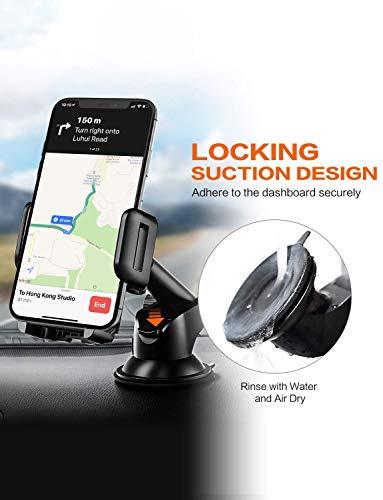 Soporte para teléfono para coche Mpow, almohadilla de gel pegajoso, lavable y fuerte con un toque de diseño Soporte para teléfono para coche, salpicadero para iPhone X /8 /8Plus /7 /7Plus /6s /6Plus /5S, Galaxy S5 /S6 /S7 /S8 /S8, Google Nexus, LG ,