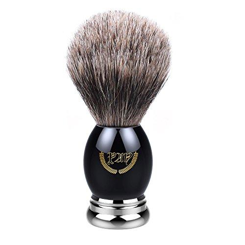 Shaving Brush, Badger Brush Shaving, Best Badger Shaving Brush, Luxury Chrome Handle, Heavy Weight, Natural Soft Badger (Metal Sapphire). Professional Shaving Brush for Men, Shaving Brush 100% Natural (Sapphire Tuxedo)