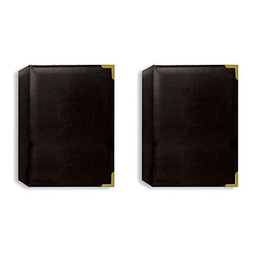 Pioneer Photo Albums Oxford Brass Corner Series 4X6 1-UP 24 Photo Black - TWO PACK
