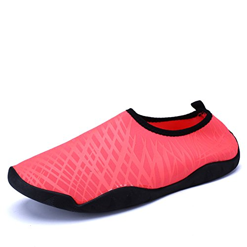 SexRt Men and Women Barefoot Skin Amphibious Quick-Dry Water Shoes,HDSX01,red,42