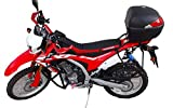 Motorcycle Soft Seat Cover BLACK RED BLACK