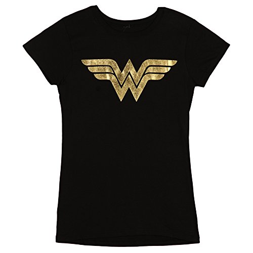 Wonder+Woman+Shirts Products : Wonder Woman Foil Logo Juniors Tee
