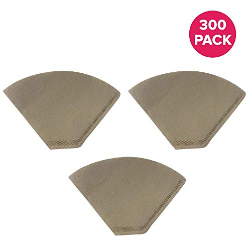 - Think Crucial Replacements for Unbleached Natural Brown Paper #4 Coffee Disposable Cone Filters, Fits All Coffee Makers With #4 Filters including Melitta, Great for Homemade Coffee (300 Pack)