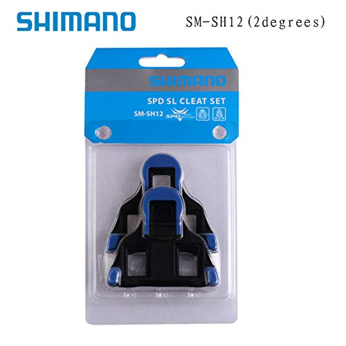Taiguanxin-LYYX Genuine Shimano Cleats SPD SPD-SL Road Pedal Cleats Dura Ace,Ultegra SM-SH11 SH-10 SH-12 Bike Auto-Lock Plate Float Pedal Cleats (Blue) ()